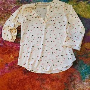 Bird print top. Stitch Fix.